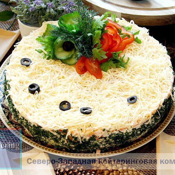 «МИМОЗА» в виде торта