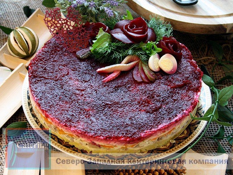 «СЕЛЬДЬ ПОД ШУБОЙ» в виде торта