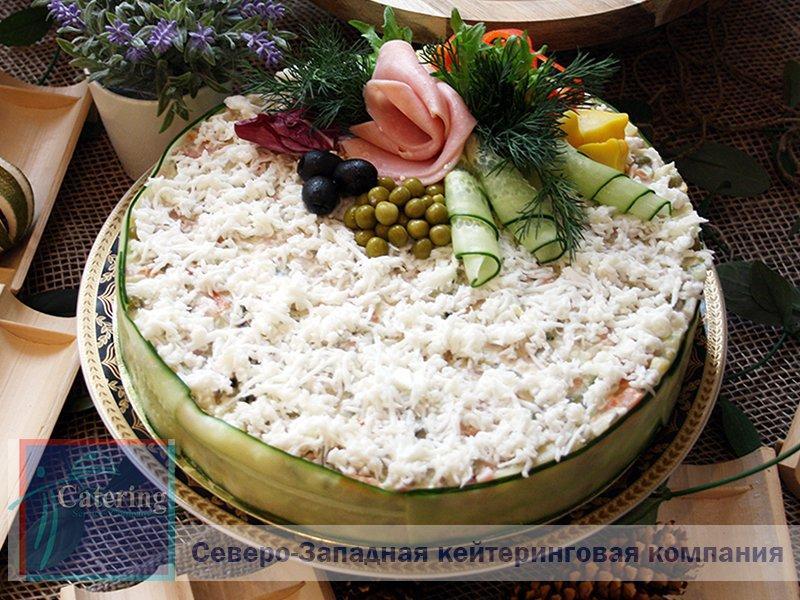 «ОЛИВЬЕ» С КУРИЦЕЙ, в виде торта